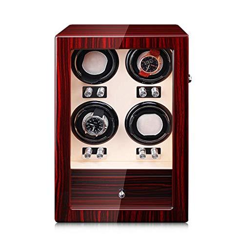 WXDP Enrollador de Reloj automático,Caja enrolladora automática de Reloj, silencioso Giratorio, Caja de Madera para Reloj, Almohada Ajustable para Reloj, a