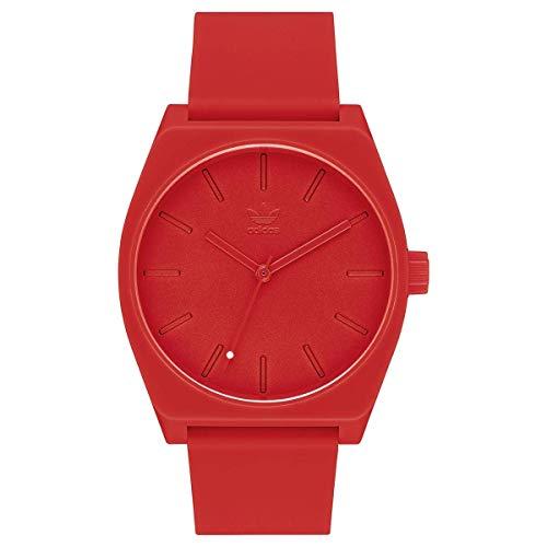 Adidas Unisex Analog Quarz Uhr mit Silikon Armband Z10-191-00