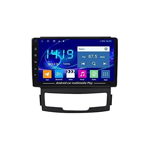 MGYQ Android 10.0 De Radio Coche Bluetooth Car Reproductor Estéreo Micrófono Incorporado Apoyo 4G WiFi/Mirror Link/Control del Volante, para SsangYong Korando 3 2011-2013,Quad Core,4G WiFi 2+32
