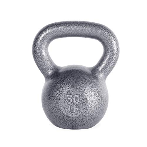 WF Athletic Supply Hammerstone Cast Iron Kettlebell - 13, 10-80 Pounds - Core Strength, Functional Fitness, and Weight Training Set - Free Weight, Equipment, Accessories (e. 30 LB)
