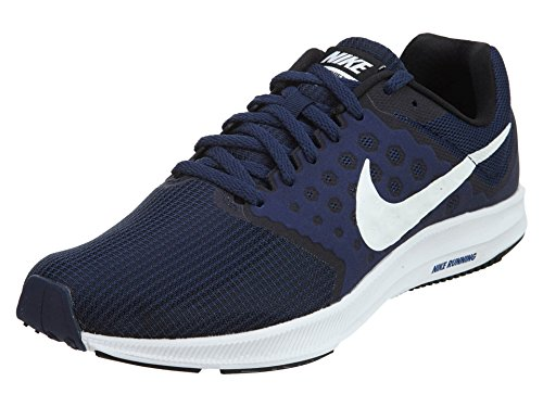 Nike Men's Downshifter 7 Running Shoes, Blue (Midnight Navy/White-Dark Obsidian-Black), 6 UK (40 EU)