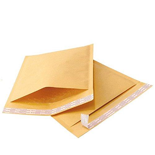 Yens 100KF#5 Kraft Bubble Padded Envelopes Mailers Self-Sealing, Pack of 100, Gold