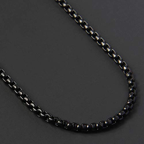 Necklace Fashion New Chain Necklace Men Stainless Steel Gold Color Long Necklace For Men Jewelry Gift Collar 3