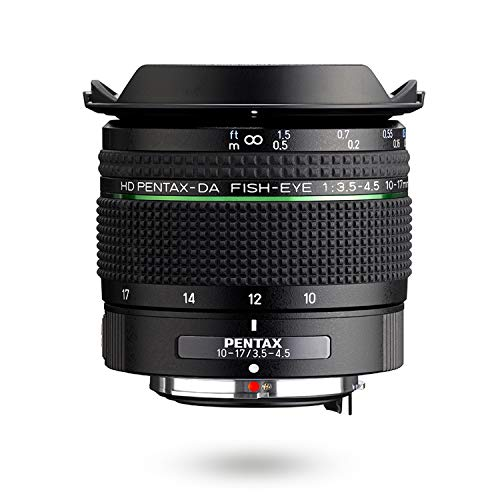 HD PENTAX-DA Fish-Eye 10-17mm F3.5-4.5 ED Ultra Wide Angle Zoom Lens Compact and Lightweight Diagonal fisheye Lens for K-1 II,K-70, KP and PENTAX DSLR Cameras