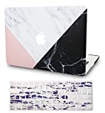 "KECC MacBook Air 13"" Retina Custodia Case (2020, Touch ID) Rigida w/EU Cover Tastiera Protettiva per MacBook Air 13.3 {A2179} (Marmo Bianco Pink Black)"