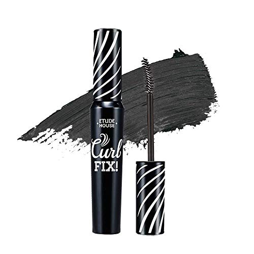 ETUDE HOUSE Lash Perm Curl Fix Mascara #1 Black - A curl fix mascara that keeps fine eyelashes powerfully curled up for 24 hours by ETUDE's own Curl 24H Technology