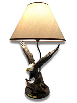 fall soaring eagle 20 inch table lamp w shade daleya73jovitaa2145a. Black Bedroom Furniture Sets. Home Design Ideas