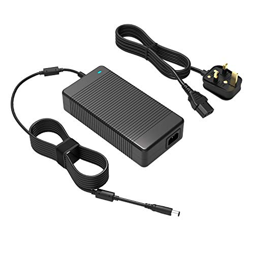 240W 19.5V 12.3A Alienware Charger Fit for Dell Alienware M17X M18X X51 13 15 17 R2 R3 R4 R5 Precision 7710 7720 7730 M6400 M6500 M6600 M6700 M6800 Area-51m PA-9E Laptop AC Power Supply Adapter Cord