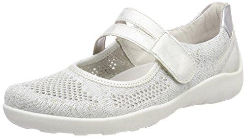 Remonte Damen R3506 Ballerinas, Weiß (White-Silver/Ice), 39 EU