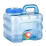 Awayhall 7,5L Bidón Plástico con Grifo, Contenedor De Agua Portátil, Tanque de Almacenamiento de Agua del Multifuncional al Aire Libre Contenedor de Agua Portátil BPA Gratis