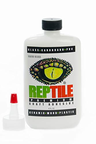 REPTILE Premium Craft Adhesive 4 oz Dries Clear-Order and Ship Above Freezing