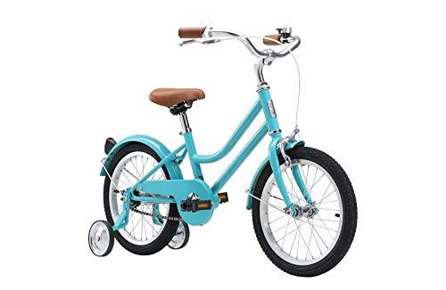 "Reid 16"" Girls Kids Vintage Push Bike Retro Classic with Training Wheels Turquoise"