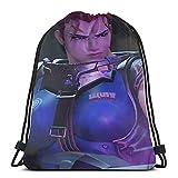 Zar-ya - Bolsa de deporte con cordón para gimnasio, mochila de deporte para mujeres y hombres, mochila de polietileno impermeable y plegable