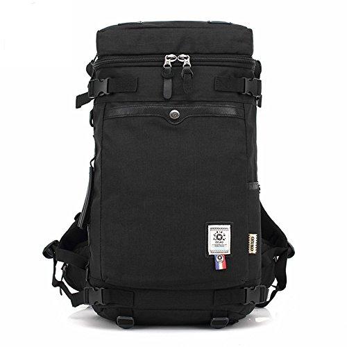 Reiserucksack Hiking Rucksack, Fresion Laptop Tasche Trekkingrucksack Multifunktionaler 3 Arten des Tragens für Herren Damen(Oxford Schwarz)
