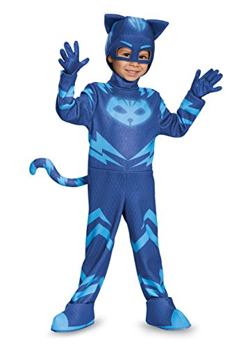 Disguise Catboy Deluxe Toddler PJ Masks Costume, Medium/3T-4T by