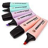 Stabilo Boss Original Pastel Subrayadores Marcadores - Set de 6 - Rosa, Lila y Turquesa
