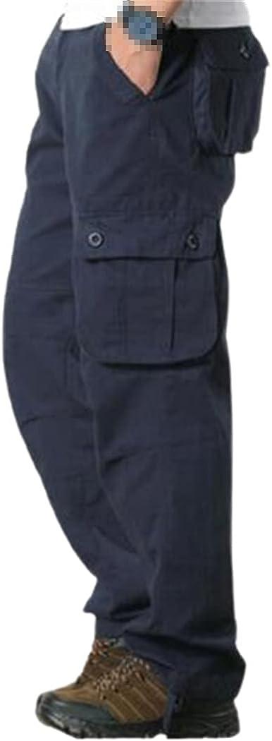 KEHAIOO Men's Cargo Pants, Casual Multi Pockets Military Tactica