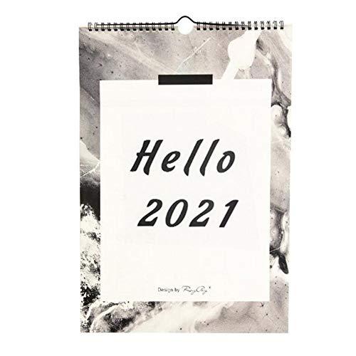 WXL Calendario de Escritorio Año Nuevo 2021 del Calendario de Pared Calendario...