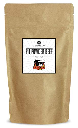 Ankerkraut Pit Powder Beef, BBQ Rub Gewürzmischungvon BBQ-Pit, für Beef Ribs, Flanksteak oder klassische Steaks, 250g im aromadichten Beutel