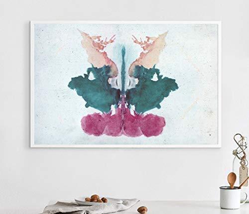 Wandkunst Bild Rorschach Inkblot Test Art Leinwand Poster Home Wanddekoration 40X56Cm ohne Rahmen