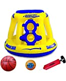 Wave Runner Swoosh 360 Swimming Pool Basketball Hoop Set by WAVERUNNER - (Yellow/Blue)