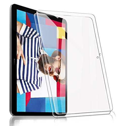 [2 Pack] Protector Pantalla para Huawei MediaPad T5 10 10.1, Cristal Film Protector de Pantalla de Vidrio Templado Alta Claridad 9H Dureza Resistente Anti-Arañazos