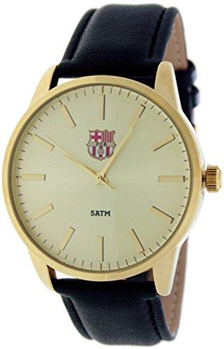 RADIANT Reloj analógico de caballero F.C.BARCELONA - Correa de piel - Dorado - BA-15601 Enzo