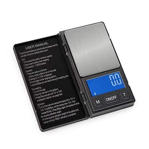 200g Draagbare Micro Elektronische Weegschaal LCD Blauwe Achtergrondverlichting Digitale Zakweegschaal Sieraden Medicinale Voeding Gewicht Balance Weegschaal