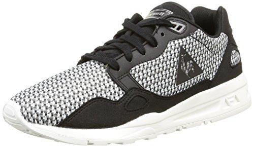 Le Coq Sportif Unisex-Erwachsene LCS R900 Geo Jacquard Sneaker, schwarz/weiß, 40 EU