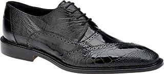 Belvedere Nino Genuine Ostrich Leg and EEL Oxford Shoe