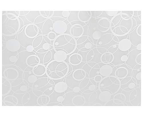 Kuber Industries Circle Design 6 Piece PVC Refrigerator Drawer Mat Set - 48 cm x 33 cm , White