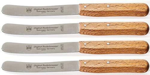 RÖR Buckels Frühstücksmesser Buche Tafelmesser Buttermesser Solingen (4, Buckelmesser mit Welle)