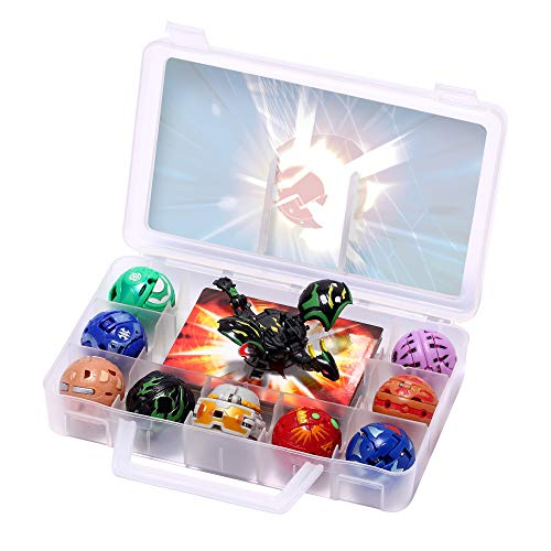 Battle Brawlers Bakugan Pack, 9 Bakugan All Different + 9 Metal Gate Card with Baku-storage Case Great Toy Gift Kids' Play Figures Playsets, for Ages 6 and Up, Multi Colour (9-Pack)