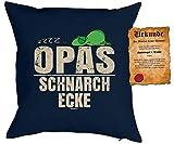 Opa Sprüche Kissen Geschenk - Großvater Geschenk : zzz… Opas Schnarch Ecke - Kissen ohne...
