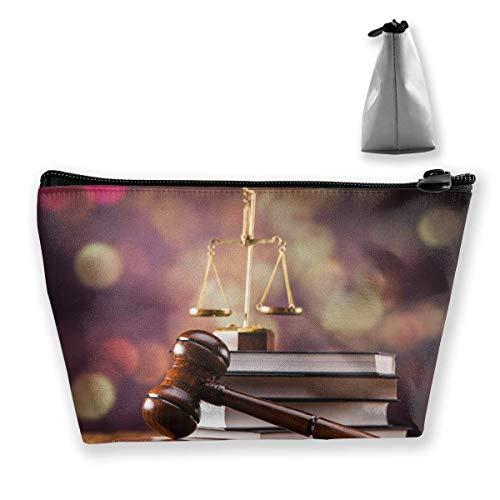 Sac de maquillage cosmétique de la loi de l'équilibre de la balance de la balance de la cosmétique portable sac de rangement trapézoïdale sac de voyage avec fermeture éclair
