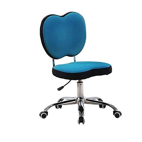 CHIFAN Comfortable Adjustable Height, Swiveling with Padded Back and Seat Task Chair Armless, Low-Back (Color : B)