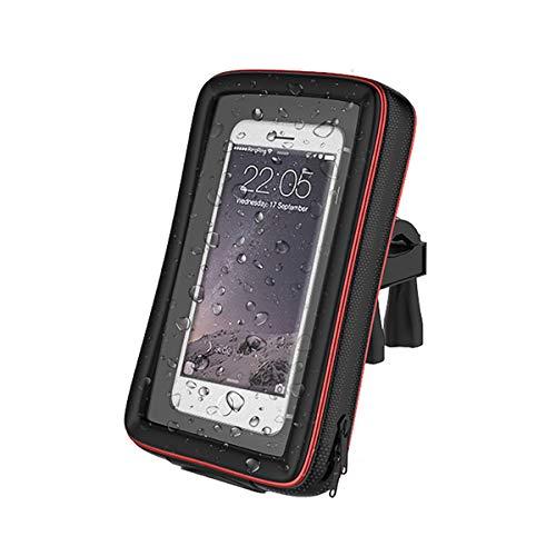 "Funda Soporte 360º Bicicleta Moto Pantalla tactil para Telefono GPS 4,5"" a 5,5"" Compatible: Appel Samsung Sony Xiaomi Huawei LG BQ"