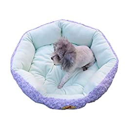 Lucky H Soft Pet Bed for Cats and Small Medium Dogs Cuddler Round Cushion Nest Bed Portable Cat Dog Puppy Bed Sofa Doughnut Sleeping Bed Calming Bed Warm Plush Pad Mat Cozy Bed Hut with Anti Slip Base