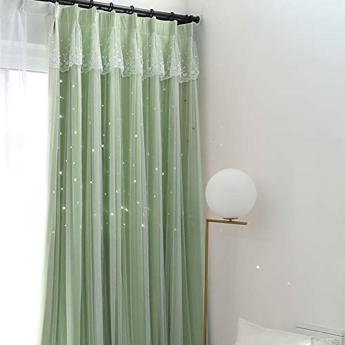 Nordic Wind Gordijnen, Holle Sterren Wind Kinderkamer Slaapkamer Bay Window Shade Window Shades Blinds verduisterende Rolgordijnen
