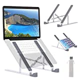"ROTTAY Adjustable Laptop Stand for Desk, Ergonomic MacBook Stand, Portable Tablet Notebook Riser, Compatible with MacBook, Dell, HP, Lenovo, Acer and More 10-15.6"" Laptops and Tablets"