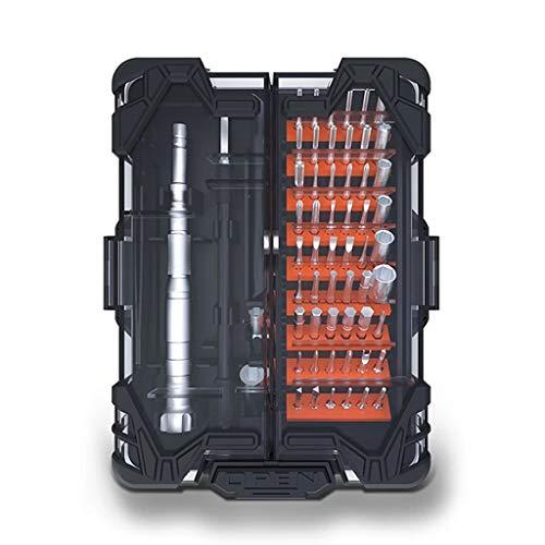 YUTRD ZCJUX Destornillador de precisión Set de bits Magnetic Torx Hex Destornillador bits 62-IN-1 Caja de interruptores Herramientas manuales para PC portátil Teléfono móvil