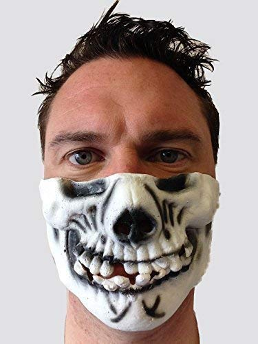Scary Zan Masque de protection squelette de crâne de cerf en Latex Fancy Dress