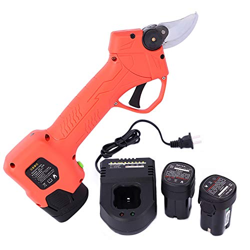 Best Bargain FJFJFJ Household Cordless Rechargeable Lithium Pruning Electric Shears Branch Cutter El...