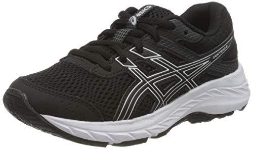 ASICS Contend 6 GS Running Shoe, Black/White, 39 EU