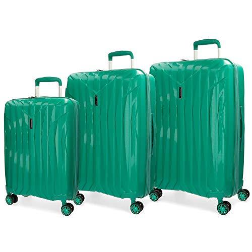 Movom Fuji Juego de maletas, 77 cm, 202 litros, Azul