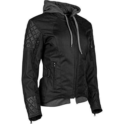 Speed and Strength Women's Women's Double Take Black Textile/Leather Jacket