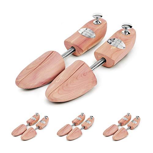 Schlesinger - 4 Paar Premium Schuhspanner aus edlem Zedernholz für Damenschuhe und Sneaker. Modell Königin. Größe 40/41. Silber Knauf.