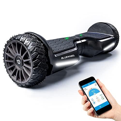 """BLUEWHEEL 6,5\"""" Premium Offroad-Hoverboard   App-kompatibel + Bluetooth Lautsprecher & LED Leuchte Self Balance Board + Safety Mode für Kinder   Premium-Akku & Dual Motor   HX380"""