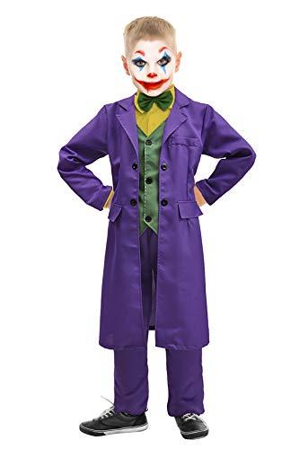 Ciao-Joker Costume Bambino Originale DC Comics (Taglia 10-12 Anni), Colore Viola, Verde, Giallo, 11702.10-12