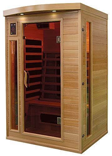 XXL Luxus LED Infrarotsauna Infrarotkabine SET Wärmekabine Sauna + Radio USB MP3